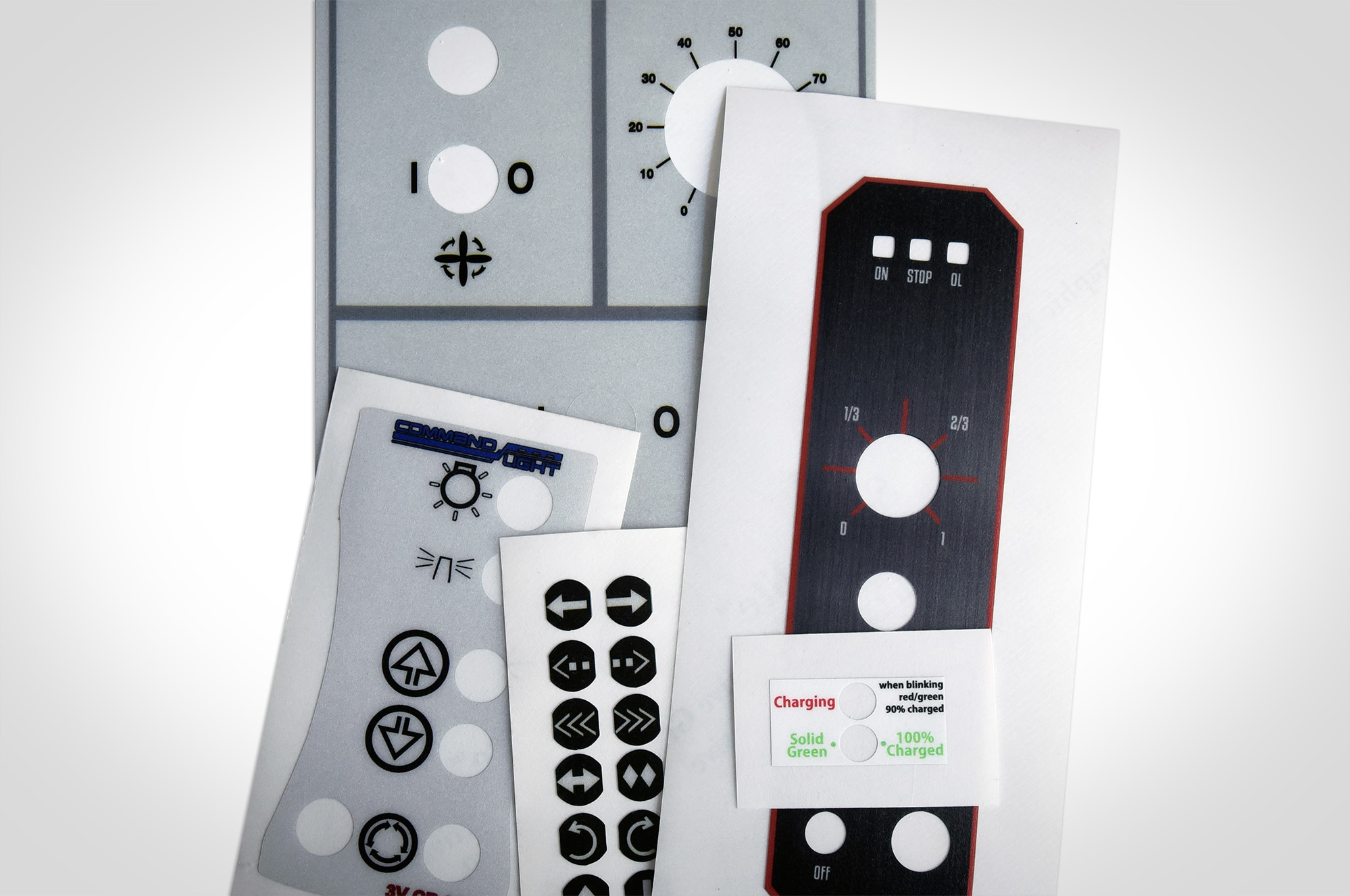 It is a graphic of Clever Industrial Control Panel Label
