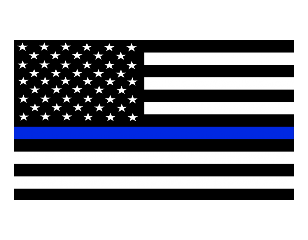 Thin Blue Line Flag Decals