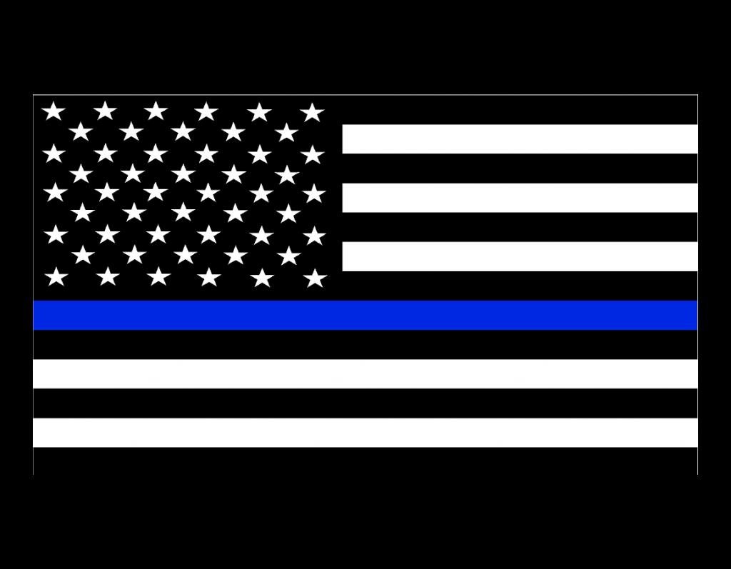 Thin Blue Line Flag Decals