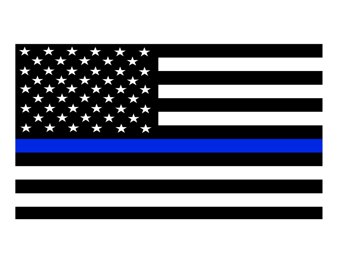 Thin Blue Line Flag Decals Svi Graphics
