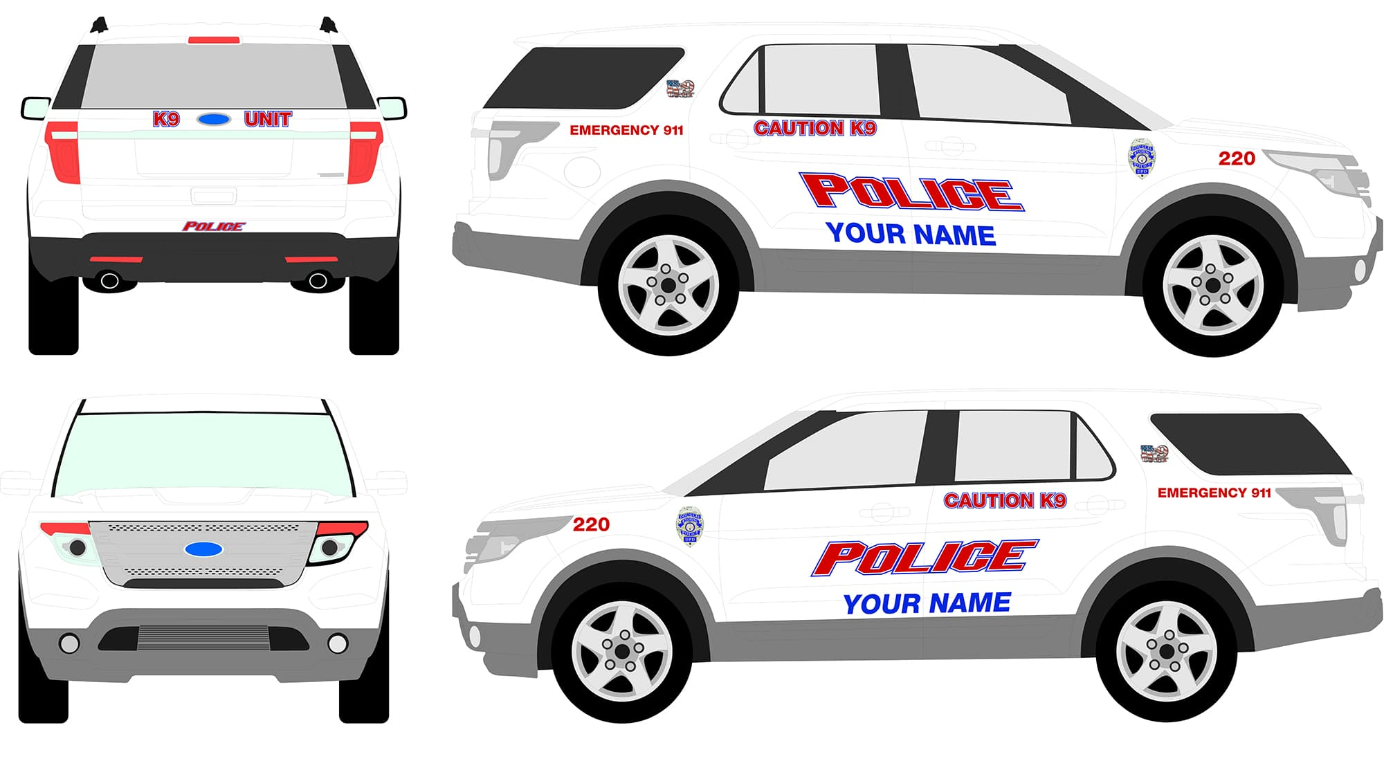 Police Car Graphics Kits Svi Vinyl Police Graphics For
